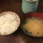 和食 かとう - 金目鯛西京焼御膳@2500円。ご飯とお味噌汁。いつもごはんが足りず、おかわりを悩みます(^◇^;)