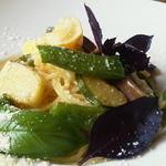 自然派レストラン&一日ひと組の宿 そうか - 秋野菜のオイルパスタ