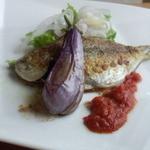 自然派レストラン&一日ひと組の宿 そうか - お魚料理(しずのソティー・イタリアンナス添え)