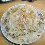 麺屋十郎兵衛 盛岡南店 - 煮干十郎(汁なし・全部増し・上から)