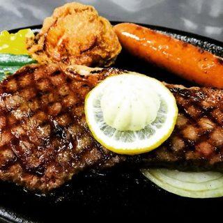 山形県産黒毛和牛サーロインのランチステーキ!