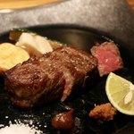 93774173 - ツギハギセレクト 牛の炭火焼き 農園野菜添え