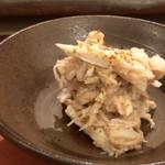 鮨 そえ島 - 渡り蟹と余市の鮟肝・・お酒泥棒のような品、美味しい。