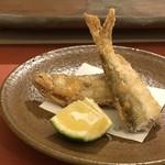 鮨 そえ島 - ◆本シシャモ(オス)のから揚げ・・揚げ方がお上手ですし、本シシャモは美味しいですね。