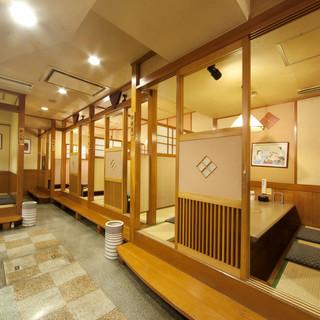 2名様から個室利用OK◎最大60名様まで使える宴会場もあり!