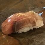 鮨 そえ島 - ◆主人は「天然物のシマアジ」を。とても美味しいという感想。