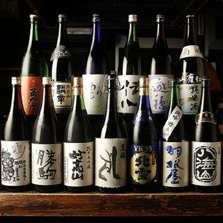 都内屈指の取り揃え!北陸・新潟・長野の地酒約500本
