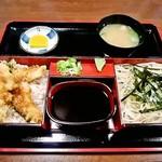 そば源 - 料理写真:天丼・そばセット(そば大盛1,230円)