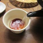 九つ井 - 蕎麦湯は自然体