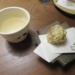 九つ井 - 甘味の「揚げ饅頭」