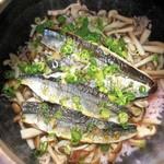 お料理 御厨 - 秋刀魚と木の子ご飯 梅の香り
