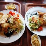 タカチホキッチン - 基本は950円ですが、+300円でチキン南蛮大盛、+100円で野菜大盛にできます。