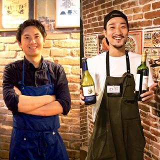 TV/雑誌でも話題♪)腕利き本格シェフとワインに精通する店長