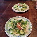 ラジャ - ランチにたっぷりのサラダが付きます。ドレッシングが美味しい。