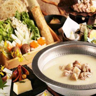 宴会にぴったり!地鶏水炊き鍋付飲放付宴会プ3500円