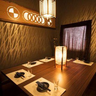 何名様でゆったり個室でお客様にぴったりの空間を。