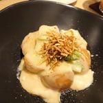 KOYOI 炭火焼と旬菜 - じゃがいもチーズアスパラの何か