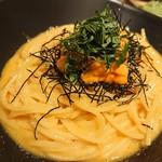 KOYOI 炭火焼と旬菜 - ウニのパスタ