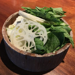 しゃぶしゃぶKINTAN - お代わりの野菜