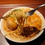 べいらっきょ - チキンカレースパゲッティ