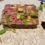 レ・ピコロ - 鹿肉とピスタチオ、イチジクの田舎風パテ