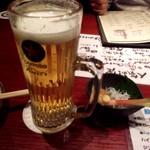 ときわ酒場 - 生ビール、お通し¥350-