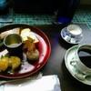カフェ オギッソ - 料理写真:お目当ての和栗三昧(税込1000円)と朝霧という名のコーヒー(税込600円)。コーヒーはエチオピア、タンザニア、コスタリカ産ブレンド。