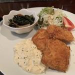 祖月輪 - 白身魚のフライ&タルタルソース