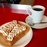 マゴーズ サンドウィッチ - シナモントーストとコーヒー