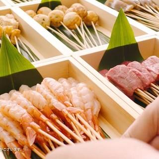 【いつでも食べ放題】串ネタにソースといろいろ選べます!