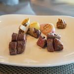 ステーキ・鉄板料理和かな - 岩手短角牛の希少部位と前沢牛のフィレ肉をハーフづつで