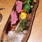 いさぎ - 天草産黒毛和牛ランプ肉の炭火焼き