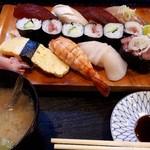 寿司駒 - 料理写真:ランチ にぎり一人半 1600円