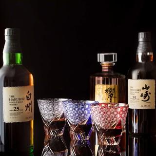 世界各国のお酒と国産ウイスキーなど豊富な種類