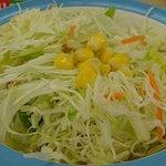 松屋 - 松屋 本蓮沼店 定食に付くたっぷりんこのサラダ