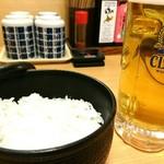 産直仕入れの北海道定食屋 北海堂 - ご飯 150円 生ビールジョッキ×2 500円