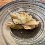 柚木元 - のど黒と松茸、おろしと梨