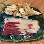 柚木元 - 天然舞茸と松茸、熊