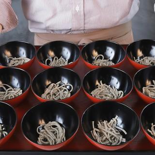 【日本初】となる十割蕎麦の「わんこそば」