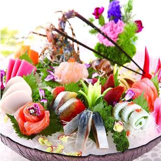 【北海道直送◎】全コース伊勢海老付き!旬の鮮魚を田町で◎