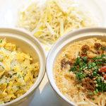 メゾン・ド・ユーロン - 本日のお食事(坦々麺、もやしと黄ニラの焼そば