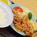 動坂食堂 - 生姜焼き定食・味噌汁無し・小ライスにチェンジ(800円→750円)2018年9月