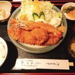みの和 - 海老フライ・ロースカツミックス定食+カキフライ