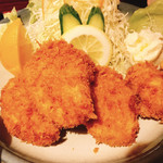 みの和 - ヒレかつ定食+カキフライ