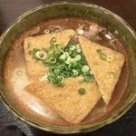 大地のうどん - 料理写真:きつね・肉・山かけ・うどん 860円