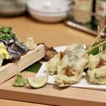 お籠り個室と彩りなだれ寿司 瑞Kitchen - 秋刀魚三点盛り