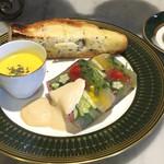 カフェ ファイブ - 料理写真:季節の野菜&パストラミ ゼリー寄せ(珈琲or紅茶セット)