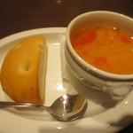 金星パスタ - スープ+フォカッチャ