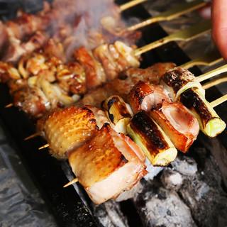 幻の地鶏【天草大王鶏】を使用したボリュームのある焼き鳥を堪能