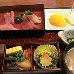 雑魚万 - 刺身御膳(1365円)